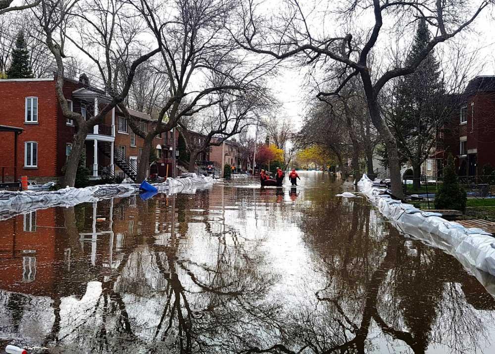 Innondations 2017 rue Cousineau