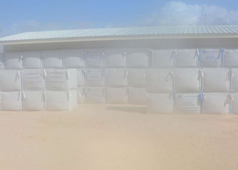 Citadel barrier used as protection during a sandstorm